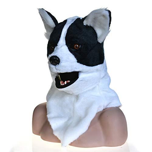 atur Moving Mouth Cosplay Karneval Kostüm Hundebleiche Anime Masken (Color : White, Size : 25 * 25) ()