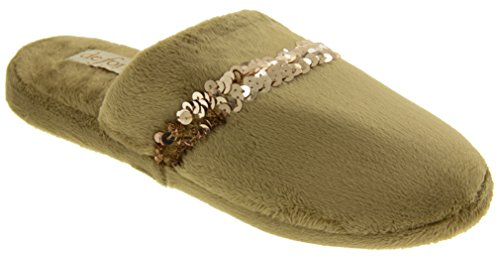 Da donna Mule pantofole Beige