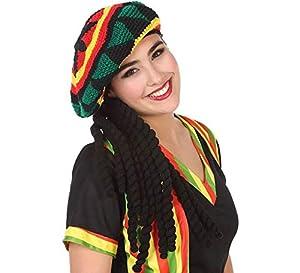 Atosa-57883 Gorro con Rastas Jamaicano, (57883)