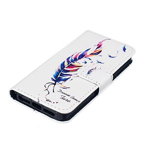 iPhone 5S Coque, cowx Étui de protection Etui en cuir pour iPhone 5S 5Étui en cuir PU Case Coque, iPhone 5, iPhone 5S 5Case, housse support portefeuille pour iPhone 5S 5poches Bols Foto5