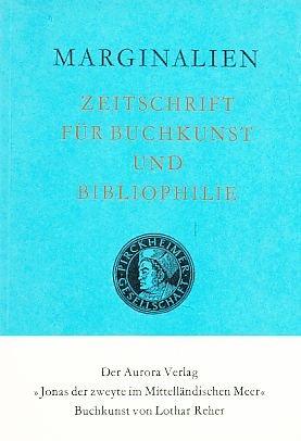 Marginalien 113 / 1989. Zeitschrift für Buchkunst und Bibliophilie.