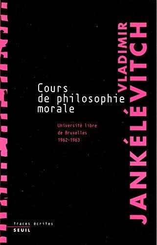 Cours de philosophie morale