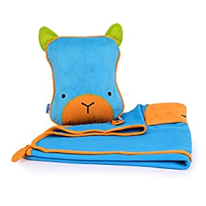 Trunki SnooziHedz Travel Pillow and Blanket - Bert (Blue)