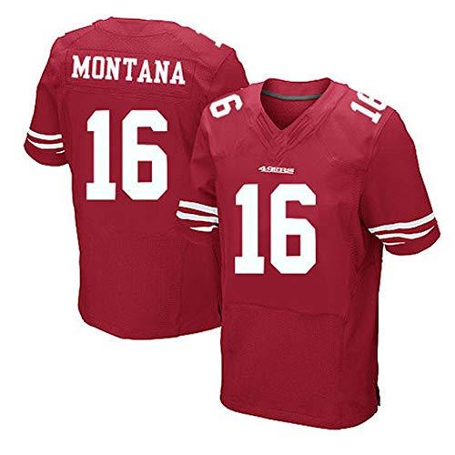 Camiseta de Rugby, NFL San Francisco 49 ERS 16 y 35 Velo Montana Elite Bordando Camisetas de fútbol...