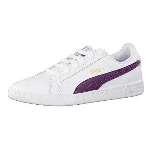 Puma Damen Smash L Sneaker Weiß (white-dark Purple)