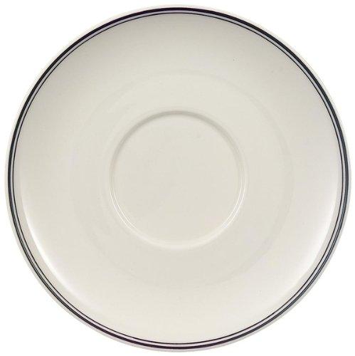 Villeroy & Boch Charm & Breakfast Design Naif Café au Lait-Untertasse, 20 cm, Premium Porzellan, Weiß -