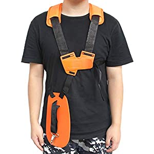 Haishine Universal Double Shoulder Strap Grass Trimmer Brush Cutter Harness Belt Garden Power Pruner Nylon Orange