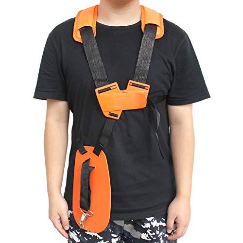 Haishine Universale doppia tracolla tagliaerba decespugliatore imbracatura cintura Garden Power Potatore nylon arancione