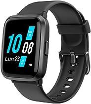 YAMAY Smartwatch con Saturimetro Misuratore Pressione Cardiofrequenzimetro Orologio Fitness Uomo Donna Imperme