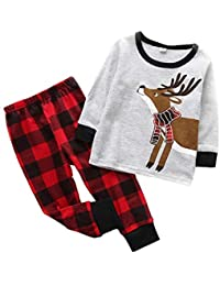 Blaward - Pijamas Enteros - Redondo - Manga Larga - para bebé niña