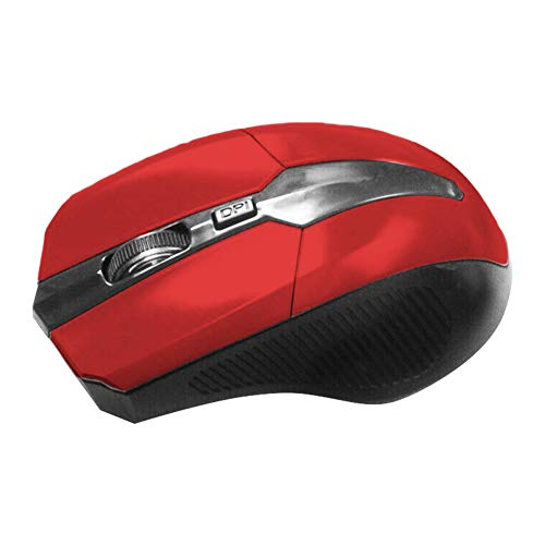 FafSgwq 2.4GHz 4 Key Adjustable 1600DPI Optical Wireless Mouse Gaming Mice for PC Laptop Optical Sensor Adjustable Gaming Mouse FPS Mouse Red Optical Power Sensor