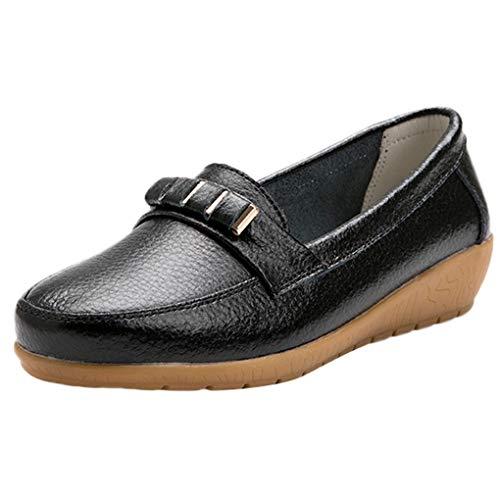 Große Größe Mokassins, Dorical Damen Bootsschuhe Loafers Halbschuhe Casual Fahren Schuhe Kunstleder Slip on Slipper Erbsenschuhe Low-top...