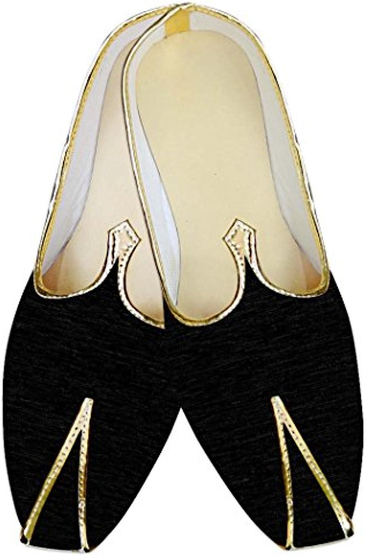 INMONARCH Negro Hombres Boda Zapatos Lujoso MJ014129