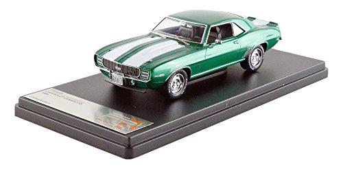 ixo-premium-x-prd549-chevrolet-camaro-rs-1969-echelle-1-43-vert-metal-blanc