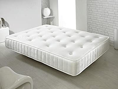 Sleep Factory Memory Foam Sprung Mattress Luxurious Deep Hand Tufted