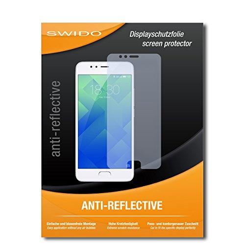 """2 x SWIDO® Pellicola Protettiva Meizu M5s Screen Protector Pellicola Protettiva Film """"AntiReflex"""" antiriflesso"""