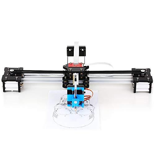 Zitainn Zeichnungsroboter, zusammengesetzter XY-Plotter - Zeichnungsrobotik - Mal- / Schreibroboter-Kit - Hochpräzise 100-240V