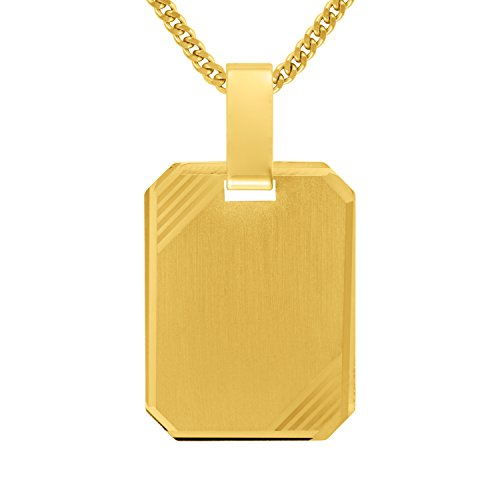 Gelbgold Gravurplatte Anhänger inklussive Gravur in Gold 585 14 Kt.