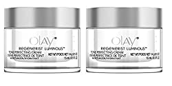 Olay Regenerist Luminous Tone Perfecting Cream, 0.5 Ounce (Pack of 2) + LA Cross Tweezers 71817