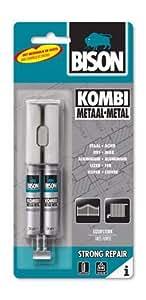 Bison Kombi Métal Carte 24 ml - adhésifs et colles (24 ml, Tube, Gris, 24 h, Ampoule, 1 pièce(s))