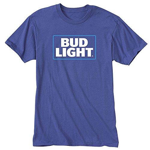 Bud Light Herren Freizeit-Hemd blau königsblau Gr. L, königsblau