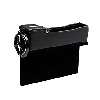 Zhhlaixing Autozubehör Universal Car Seat Side Pocket Gap Slit Pocket Box Case Between Seat and Console with Cup Holder -1 PCS