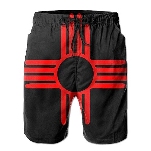 be433f1bcbab Mens Swim Trunks Casual New Mexico Sun 100% Polyester Gym Shorts/L