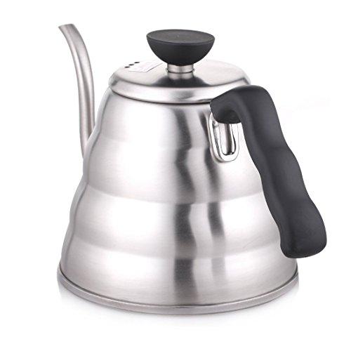 Hario V60 Buono - Bollitore da caffè a collo d\'oca in acciaio INOX, 1,2 l, 1200 ml