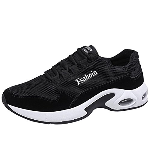 Baskets FantaisieZ Chaussures de Gymnastique de Couleur Unie pour Hommes de Mode Chaussures Croisées d'Absorption de Choc de Ventilation Chaussures de Course pour Hommes de Couleur Unie