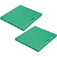 com-four® Almohadillas de Rodilla 2X para el jardín - Alfombrilla para jardinería - Rodilleras - Aprox.35 cm x 30 cm x 2.5 cm (2 Piezas - 35 x 30 cm)