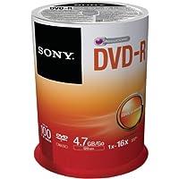 Sony DVD-R (recordable), 16x, 100er Spindel mit 120 Minuten je DVD