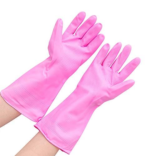 GerTong Dünne Wasserdichte Gummihandschuhe, Haushalt Durable PVC Lederhandschuhe für Wäschewasch Küche (1pair)