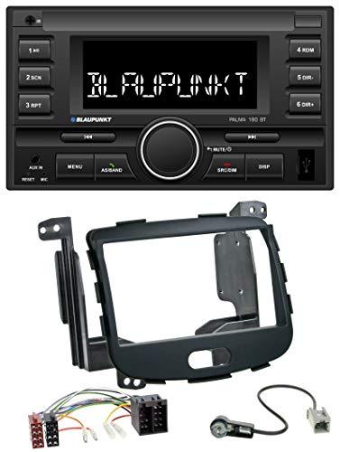 caraudio24 Blaupunkt Palma 190 BT MP3 USB 2DIN Bluetooth AUX Autoradio für Hyundai i10 08-13 Rubber Touch -