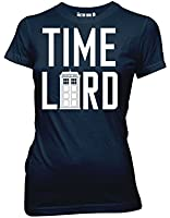 Doctor Who T-Shirt, Womens Officially Licensed Time Lord With Tardis