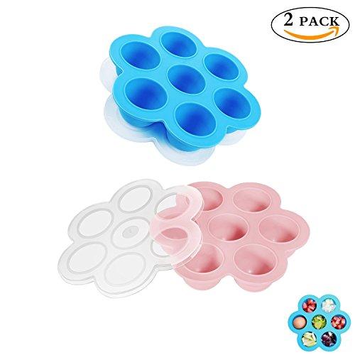 t Formen für Instant Topf Zubehör, Passt Instant Topf 5,6,8 qt Schnellkochtopf, Vorratsbehälter Gefrierfach Tablett mit Deckel für Babynahrung, FDA Lebensmittelqualität(Pink + Blau) (Kinder Box Donuts Kostüm)