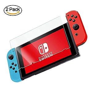 Voroar 2X Panzerglas Folie für Nintendo Switch – gegen Displayschäden – Panzerglasfolie Anti Kratzer – Displayschutzfolie Schutzglas