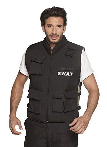 Boland 00489 Weste SWAT für Erwachsene, Schwarz, L/XL