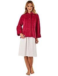 a0d72d4347 Slenderella BJ8315 Women s Raspberry Red Robe Long Sleeve Dressing Gown
