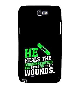 FUSON Healing Broken Heart Wounds 3D Hard Polycarbonate Designer Back Case Cover for Samsung Galaxy Note 2 :: Samsung Galaxy Note Ii N7100