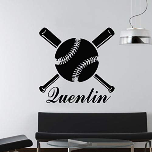 Wandtattoo Kinderzimmer Wandtattoo Wohnzimmer Personalized Name Decal Baseball Bat Sticker for living room nursery kids bedroom