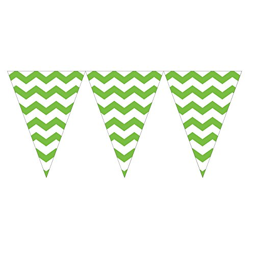 (Creative Converting 290123 12 Zählen Chevron Flagge Banner, Fresh Lime)