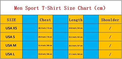 jeansian Uomo Attillati Felpa Formazione Fitness la Maglietta Muscle Training Workout T-shirt Tight Sport Suit SMF014 Blue