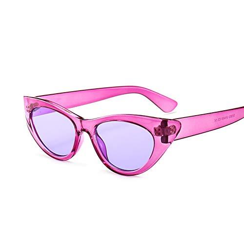 Zbertx Neue kleine Rahmen Strass cat Eye Sonnenbrille Frauen rot schwarz Mode Sonnenbrille für Frauen uv400,Lila