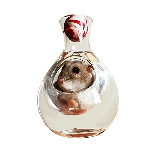 Amakunft Hamster-Haus, Hamster, Sommer Eis-Kühlbox-Hamster Spielzeug für Haustiere mit Kühlung, geeignet für Hamster, Syrische Hamster mit drei Draht Hamster -