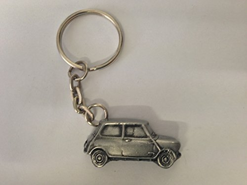 morris-mini-cooper-mk1-3d-split-ring-keyring-great-pewter-effect-keyring-ref144