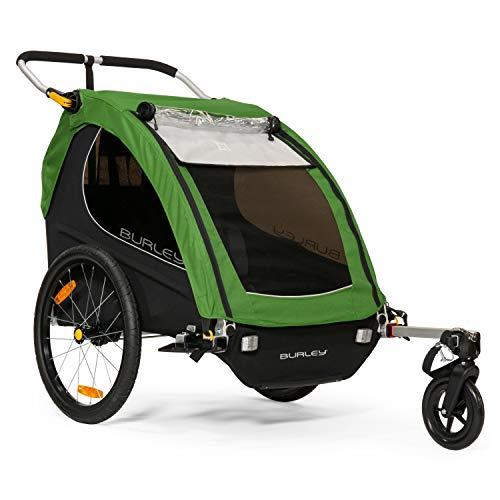 Burley Unisex Encore Kinder-Fahrradanhänger Treetop Green (Encore Burley Fahrradanhänger)