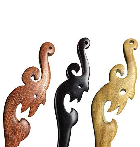 BBYaki Antike Hand Geschnitzte Holz Haarspangen Essstäbchen Haarspangen Vintage Chinese Style (Phoenix) Klassik Kombinationen - Hand Geschnitzt Antik