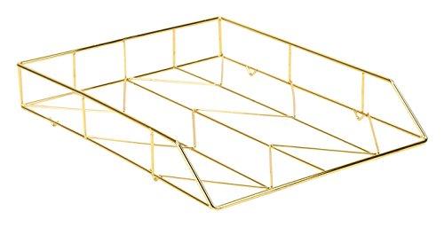 U Brands Bürozubehör, aus Metalldrähten Briefablage gold