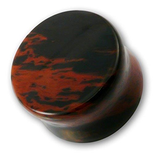 fly-style-1-stck-ohr-plug-aus-mahagoni-obsidian-stein-grsse14-mm