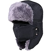 DELEY Hombres Mujeres Rusia Soldado Otoño Invierno Cálido Oído Solapa  Cortavientos Sombrero Cazador Bombardero Esquí 965d3354289